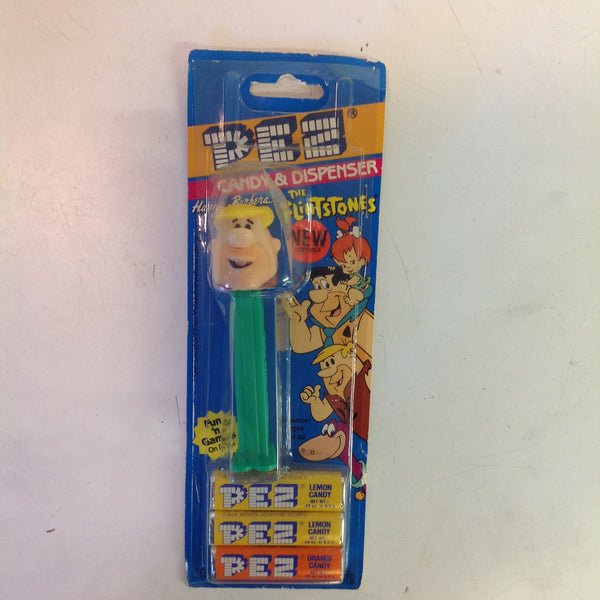 Vintage 1990's Pez Candy Dispenser w/Original Packaging Flintstones Barney Rubble