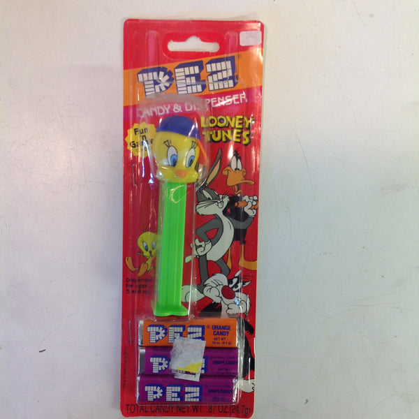 Vintage 1990's Pez Candy Dispenser w/Original Packaging Tweety Bird in Baseball Cap