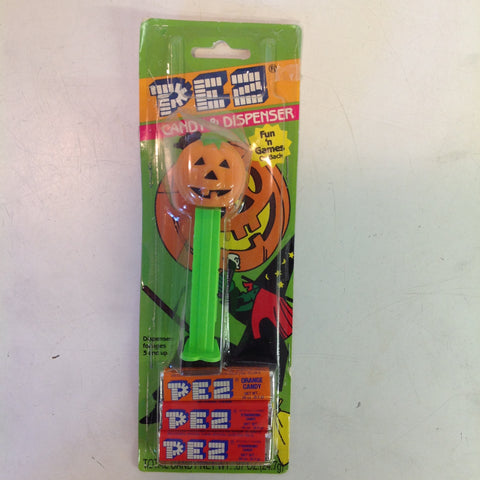 Vintage 1990's Pez Candy Dispenser w/Original Packaging Hallowe'en Jack O' Lantern
