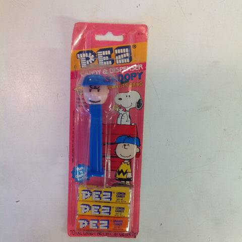 Vintage 1990's Pez Candy Dispenser w/Original Packaging Peanuts Charlie Brown Baseball Cap