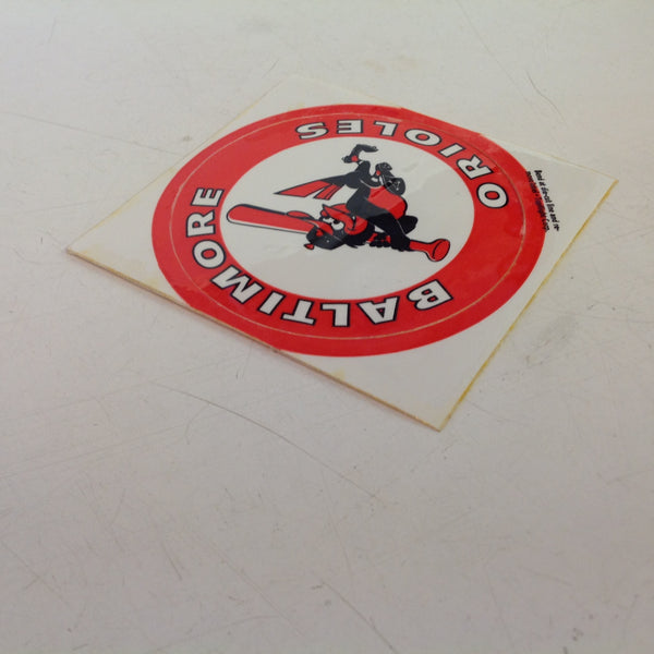 Vintage Baltimore Orioles Baseball Circular Decal Oriole Bird at Bat