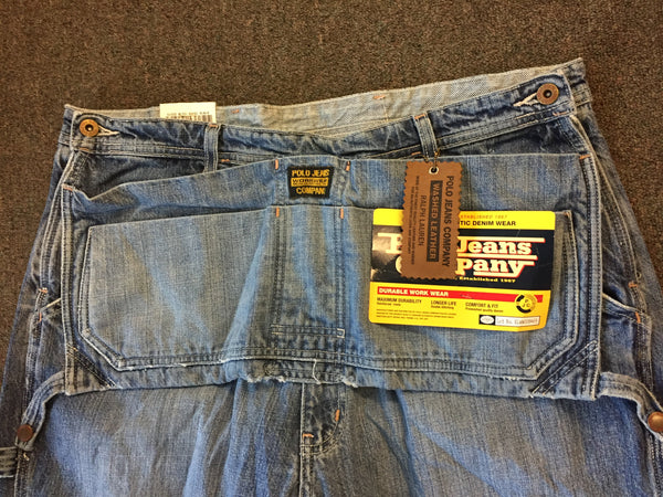 Vintage 1990's Polo Jeans Co Tool Bag Pants Workwear Ralph Lauren NOS w/tags Sz 36 X 32