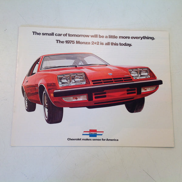 Vintage 1974-75 Chevrolet Monza 2+2 Informational Sales Brochure Color Guide