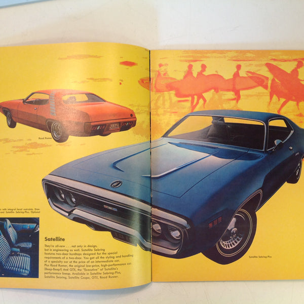 Vintage 1971 Chrysler Plymouth Color Photo Informational Sales Catalog New Cars