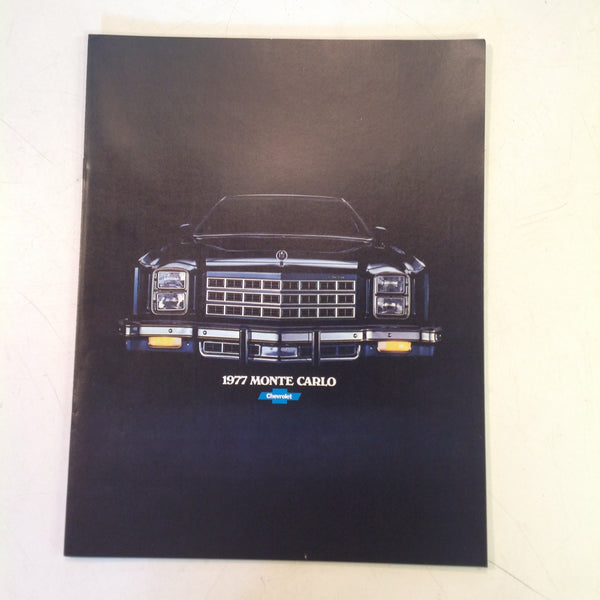 Vintage 1977 Chevrolet Monte Carlo Informational Sales Brochure Color Photo Cars