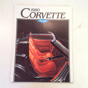 Vintage 1979 Chevrolet 1980 Corvette Informational Sales Brochure Color Poster