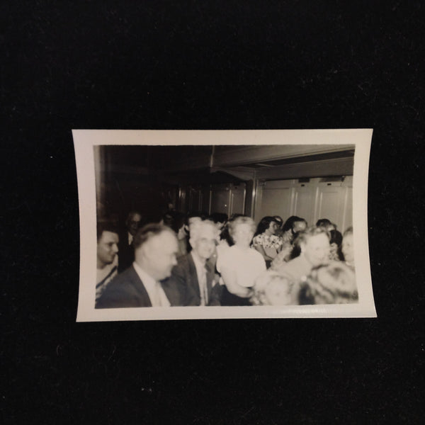 Vintage Mid Century B&W Photo SS South American Cruise Show Faces of the Crowd