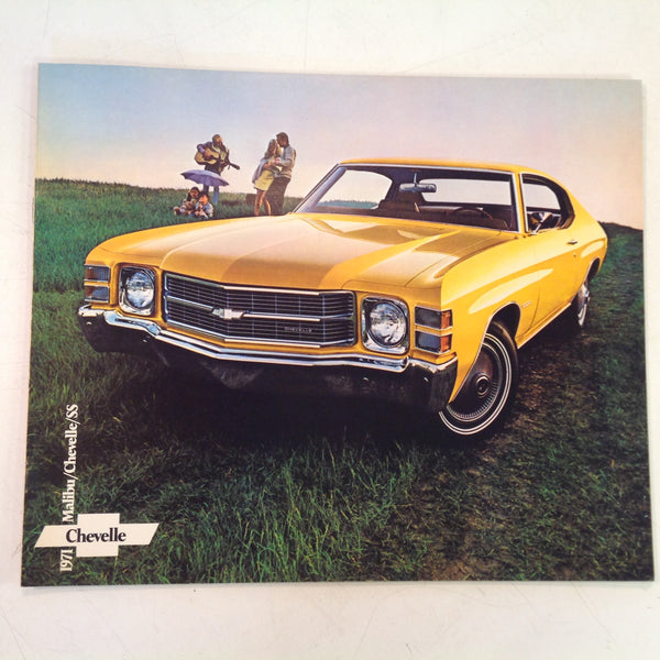 Vintage 1971 Chevrolet Malibu Chevelle SS Color Photo Informational Sale Catalog