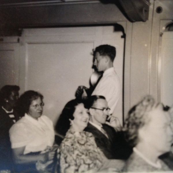 Vintage Mid Century B&W Photo SS South American Cruise Show Photog Prowls the Audience