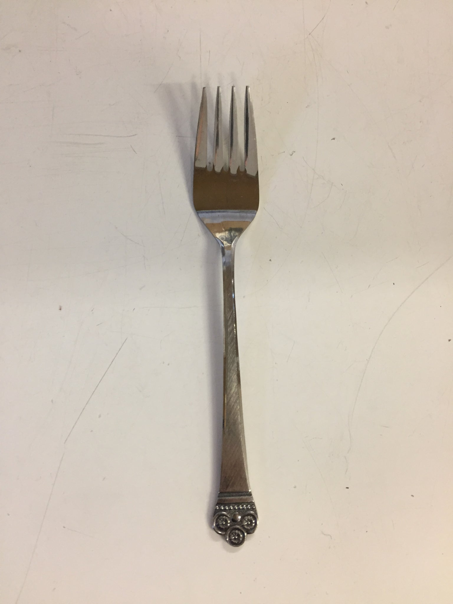 Vintage National Stainless Salad Fork Japan Flatware Mid Century