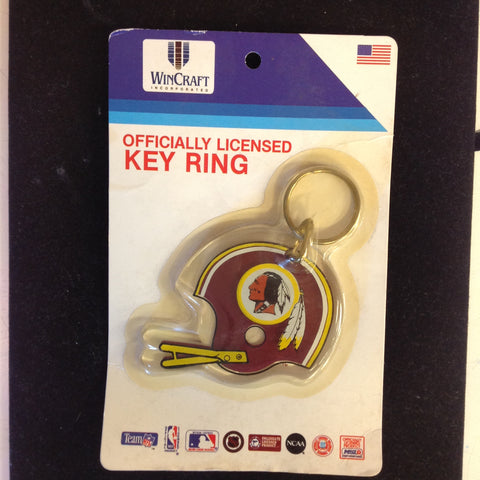 Vintage Unopened Wincraft Officially Licensed Key Ring Washington Redskins Football Helmet w/Logo