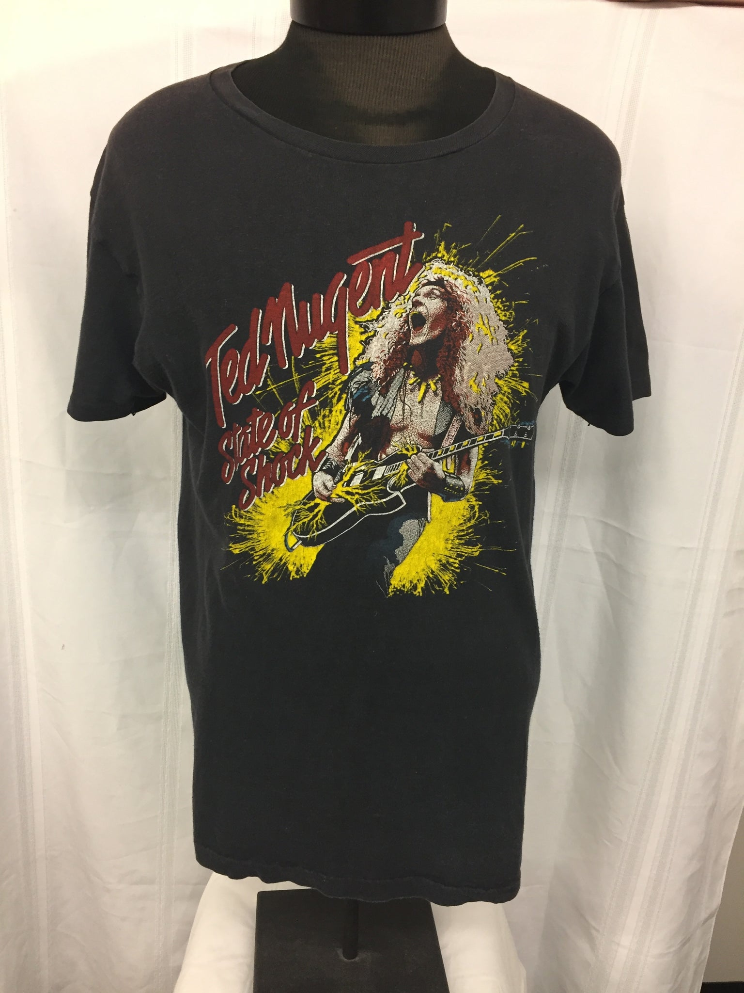 Vintage 1979 Ted Nugent State Of Shock Concert Shirt Live Cobo Hall Detroit Rock Music