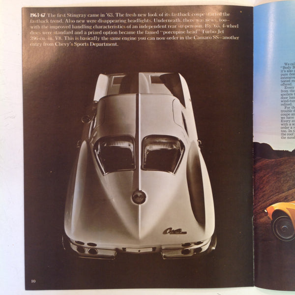 Vintage 1970 Chevrolet 1971 Corvette Informational Sales Brochure Stingray Coupe