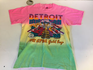 Vintage 1992 Detroit APBA T Shirt American Power Boat Association Gold Cup Motorsport Pink