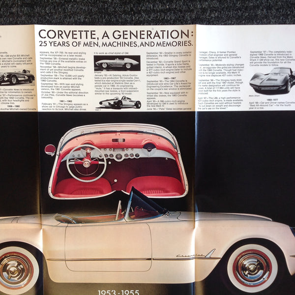 Vintage 1953-78 Chevrolet Silver Anniversary Corvette Color Photo Brochure Vette