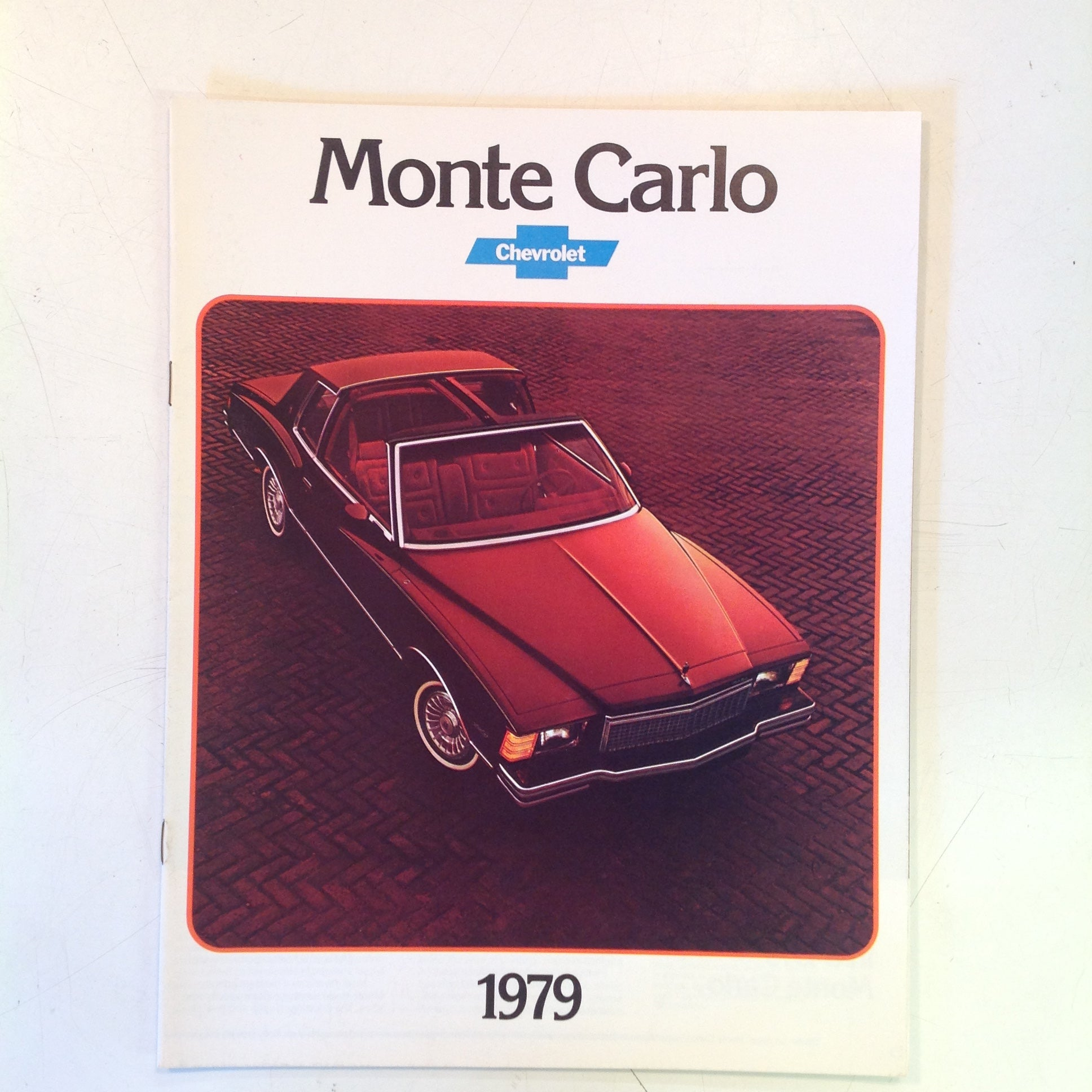Vintage 1978 Chevrolet 1979 Monte Carlo Informational Sales Brochure Color Photo