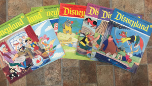 Vintage 1972 Disneyland Magazines LOT 6  Pinocchio Mickey Mouse Characters