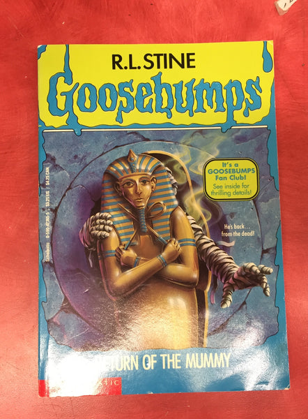 Goosebumps R. L. Stine Return of the mummy Issue 23