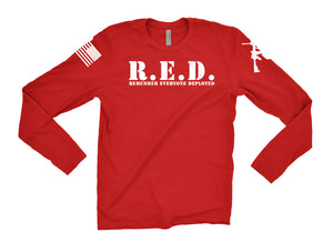 R.E.D Remember Everyone Deployed Target Logo Long Sleeve Tee v2