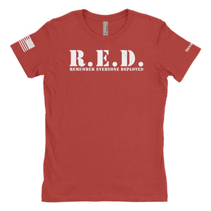 Women's R.E.D. Remember Everyone Deployed Simple Tee
