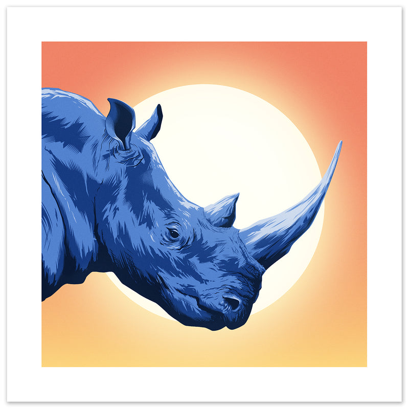 Rhino Veterans For Wildlife Art print
