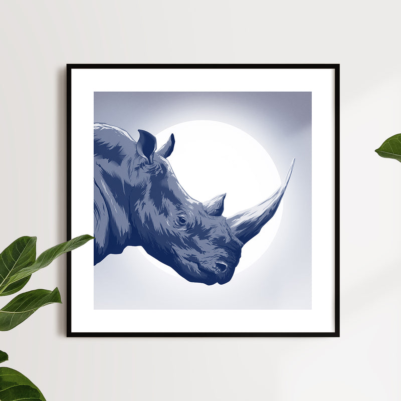 Rhino Veterans For Wildlife Art print (Variant)