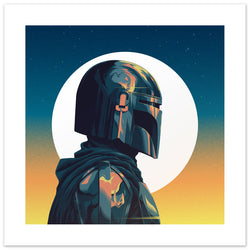 The Mandalorian Square Print