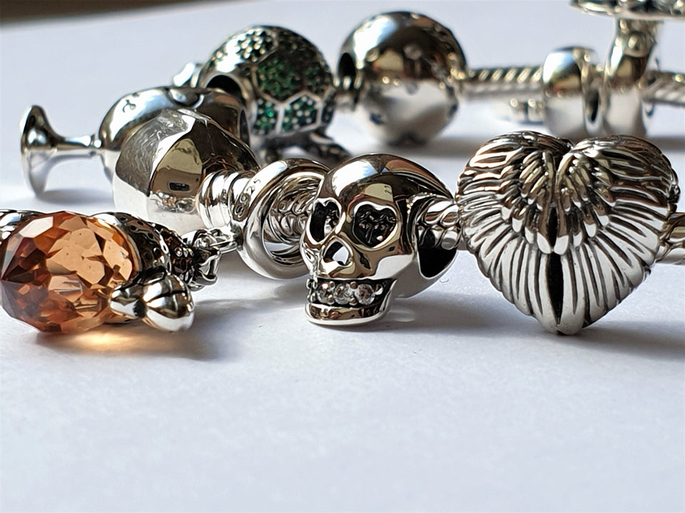 Bee Charm Scull Charm Angel Wings Charm
