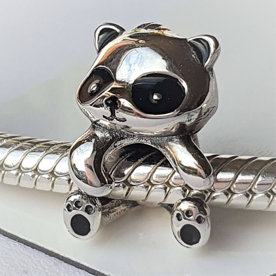 Panda Charm- 925 Sterling Silver stamped & enamel finishes, can fit on most charm bracelets (Including Pandora).
