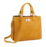 Berna Medium Handbag Mustade Yellow