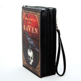 The Raven by: Edgar Allen Poe Clutch & Crossbody Black