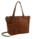 Chelsea 3 in 1 Large Tote Handbag Taupe