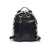 Sapphire Mini Backpack Purse Black