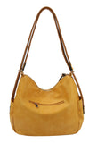 Large Reversible Hobo Handbag Mustard