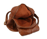 Jane Triangle Backpack Purse Brown