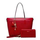 Sacred Love Crystal Large Tote Handbag Red