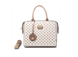 Galaxy Stars Clover Medium Handbag Ivory