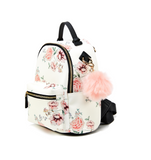Leela Mini Backpack Purse White