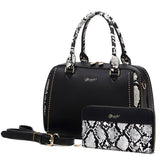 Serpa Medium Satchel Handbag Black