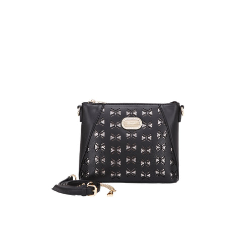Jenna Crystal Small Cross-body Purse Black