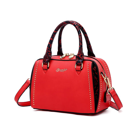 Serpa Small Satchel Handbag Red