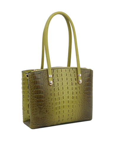 Neena Gator Medium Handbag Sage