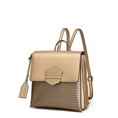 Chic Goddess Backpack Purse Gold