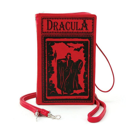 Dracula By: Bram Stoker Book Clutch & Crossbody Purse Red