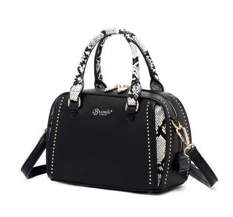 Serpa Small Satchel Handbag Black