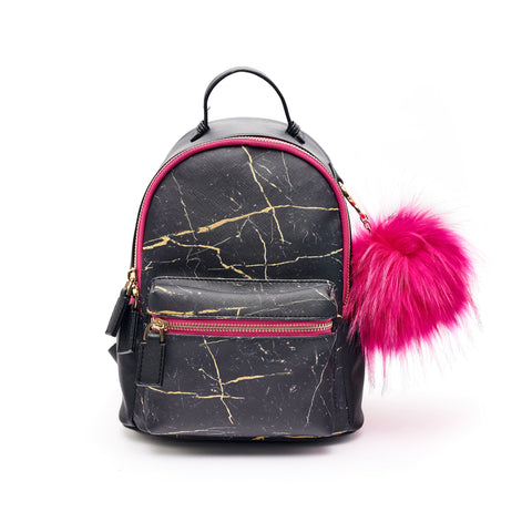 Remy Mini Backpack Purse Black Marble