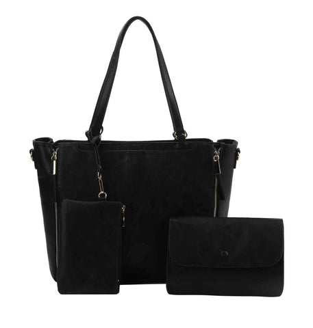 Chelsea 3 in 1 Large Tote Handbag Black