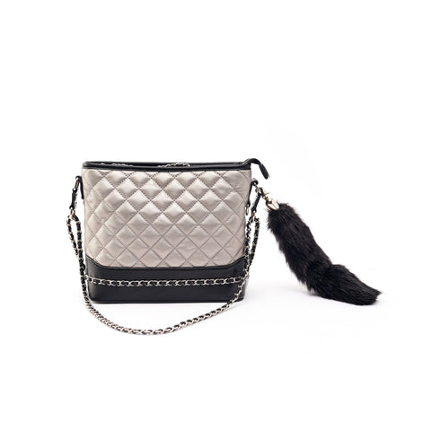Kelly Quilted Handbag Pewter