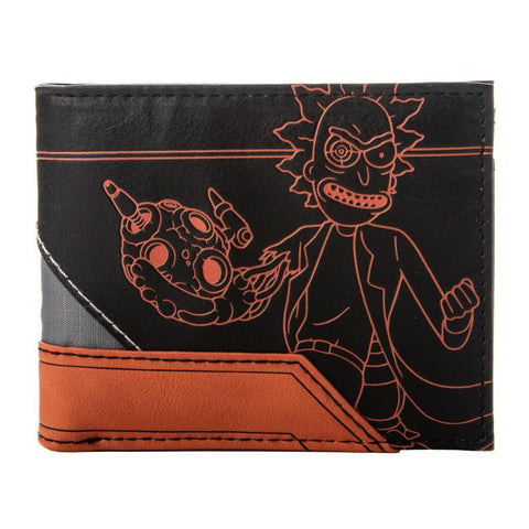 Rick and Morty Layered Material Bi-fold Wallet