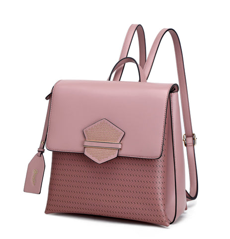 Chic Goddess Backpack Purse Rose Pink